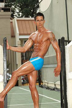 CJ Woodruff male fitness model