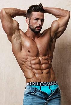 Sam Gunning male fitness model