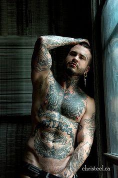 Corey Evans male fitness model